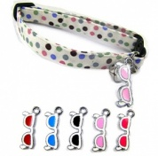 Retro Shades Cat Collar with 5 Interchangeable Charms